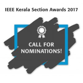 Call for Nominations: IEEE Kerala Section Awards 2017