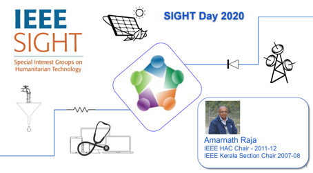SIGHT DAY @ IEEE Kerala Section, Webinar by Mr.Amarnath Raja, Past Chair HAC